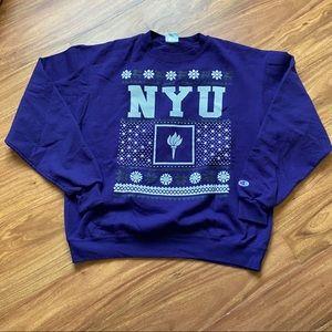 Vintage purple NYU champion sweatshirt